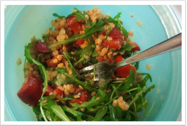 Salat mit Linsen für's Büro