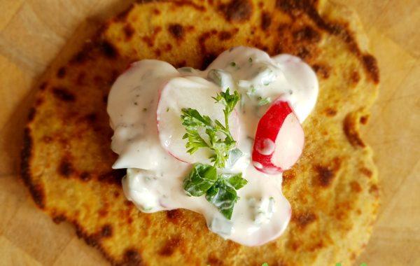 Fladenbrot (ballaststoffreich) mit Dayli Delicious Steinpilz Cremesuppe